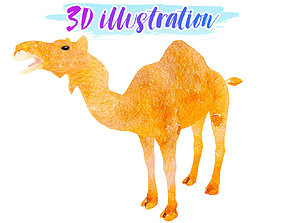 3D model Low Poly Camel 2 Illustration Animated - Game