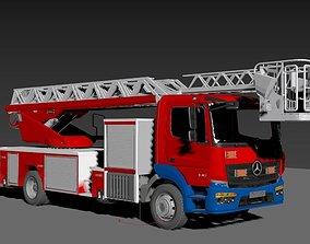 3D model fire engine Mercedes Atego