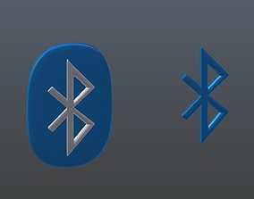 4g 3D model Symbols of bluetooth