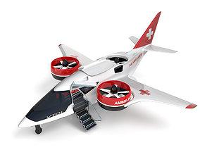 Medical Ambulance XTI Electric Aircraft eVTOL 3D model 1
