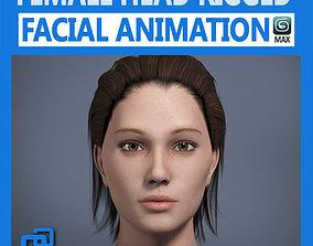 Adult Female Head Rigged 3D model