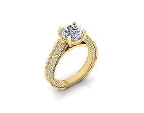 diamondring Solitaire Ring 3d Print Model