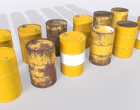 Barrel PBR Pack 4 3D asset