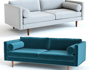3D West Elm Monroe Sofa