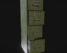 dresser Cabinet 3D rigged