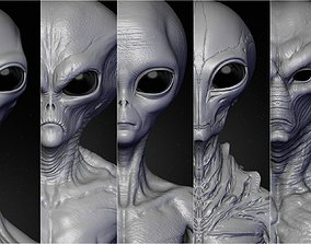 sculpt Realistic Aliens Sculpts Bundle 2 3D