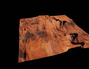 Planet Surface 3D model Mars realtime