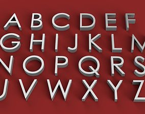 CENTURY GOT font uppercase and lowercase 3D Letters STL