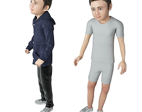 3D model Boy real cloth simulation conversation 2