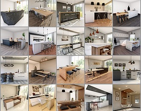 20 Kitchen Counter Pack 3D Model Collection