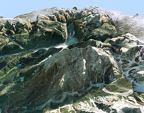 3D Mountain landscape Alps Switzerland