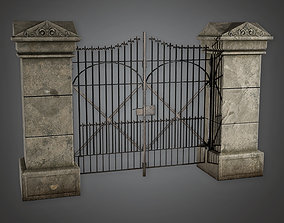 Outdoor Gate 15 GFS - PBR Game Ready 3D asset