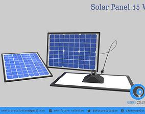 3D model Solar Panel 15 W