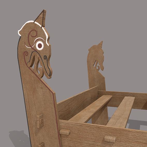 Viking Dragon Bed Frame