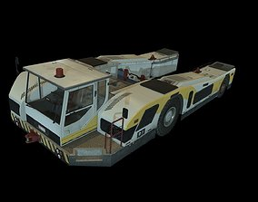 3D asset game-ready Airplane Pushback Tug