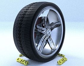 ORTAS CAR RIM 36 GAME READY RIM TIRE AND DISC 3D model