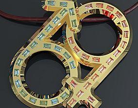 3D printable model Kinky 69 pendant kinky