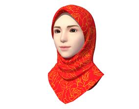 Hijab Model 4 3D