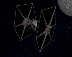 STAR WARS - TIE FIGHTER 3D asset low-poly