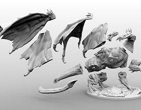 High Resolution Black Dragon Miniature 3D printable model