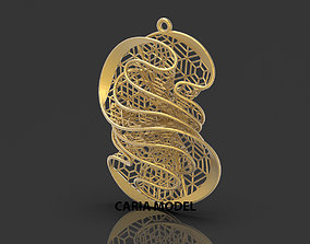Ultra Fusion Pendant STL 3d model for 3d printing 072