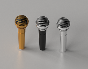 Cartoon Microphone 3D model