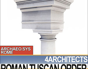 Tuscan Column Order Entablature 3D