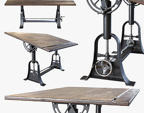 3D RH - 1910 American Trestle Drafting Table