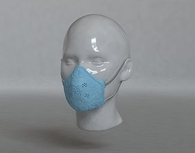 Medical female mask 3D print model