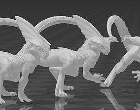 3D print model skink runners - blood bowl lizardmen