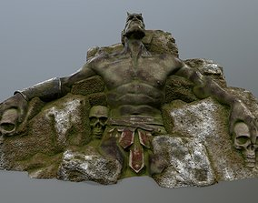 3D asset Stone Worrior