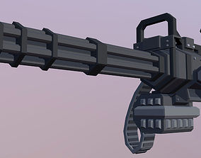 Minigun 3D model VR / AR ready