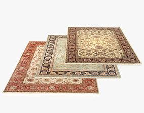 3 Persian carpets rug 3D model
