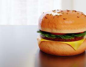 Hamburger Free 3D asset game-ready