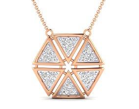 Women necklace pendant 3dm stl render detail gem