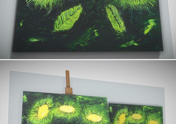 Three Flowers - Oil Painting