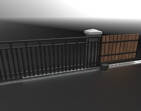 Sliding Gate 3D asset low-poly