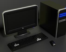 3D asset pc computer monitor