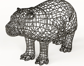 Hippo statuette abstraction 3D model