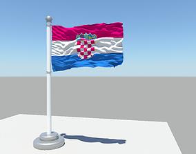 3D Croatia flag
