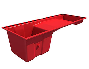 Red Engine Oil Sump Pan 72 3D model