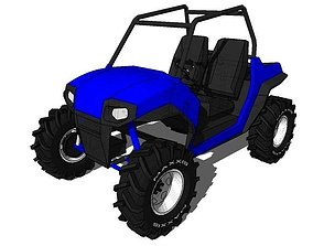 2 seater Polaris RZR 3D model