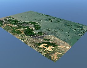Ha Long bay Topography 3D model