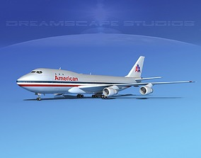 Boeing 747-100 American Airlines 3D