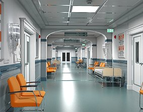 Hospital Hallway 3 Modular 3D