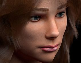 3D female head with texture