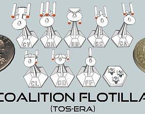 3D printable model MicroFleet TOS-Era Coalition Flotilla 1