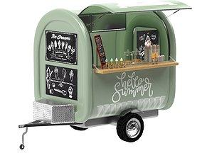 Food truck Ice cream 3D model