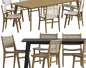 3D Globewest Noosa Chair and Noosa Table