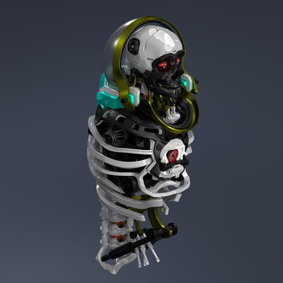 Man robot body